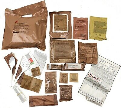 LOT of 2 BRITISH ARMY PATROL COMBAT 12 HOUR RATION PACKS MENU 1 BEEF CURRY