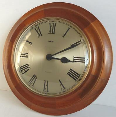 Vintage Smiths Battery Operated Wooden Wall Clock, In Good Working Order