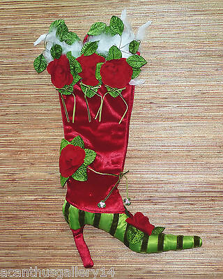 """18/"""" NWT Dept 56 Patience Brewster retired Lovey Dovey dove stocking Kringles"""