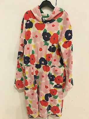 Boden Jersey Towelling Beach Dress Age 11-12      GORGEOUS FLOWER PRINT      VGC