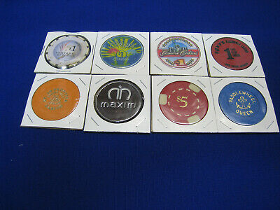Casino Chips/Tokens - Plastic - 8 Different