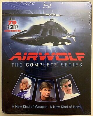 New Airwolf The Complete Series Blu Ray 14 Disc Set + Slipbox Free World Shippin