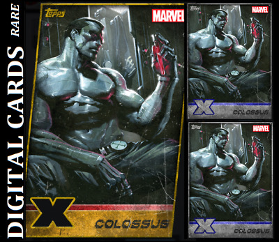 Topps Marvel Collect Card Trader X-Men Weekly Colossus Gold Die Cut+ 2 Silver