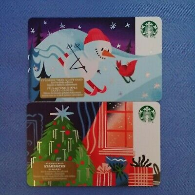 1x STARBUCKS Canada Blank Gift Cards 2019 Collectible Loadable Merry Christmas