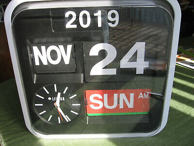 Wall Clock with year day date - ideal for elderly with memory loss