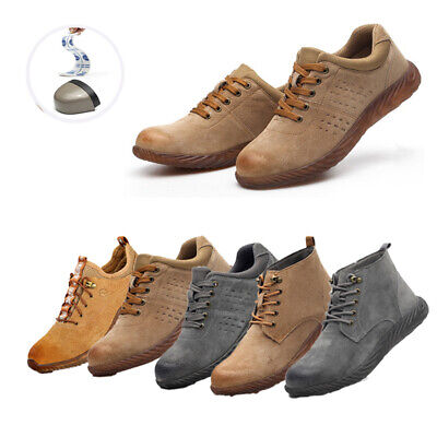 Safety Shoes Men Women Steel Toe Trainers Lightweight Work Boots Shoes Sports