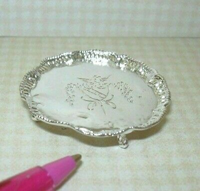 Dollhouse Miniatures 1:12 Scale Silver Tray Item #IM65051