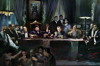 THE LAST SUPPER - MOVIE & TV GANGSTER COLLAGE POSTER 24x36 - 51683