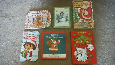 5-Christmas Books for Children, 2 Board Books, 3 parent read to child books, All