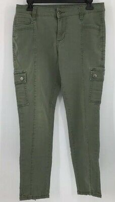 Jag Jeans Mid Rise Skinny Olive Green Cargo Pants Women's Size 8 Jeans
