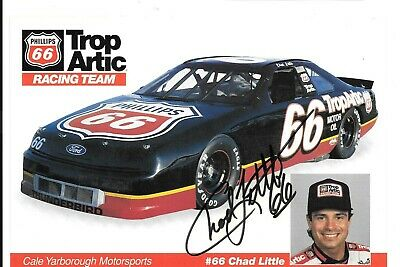 Chad Little 1992  NASCAR Autographed / Signed Hero Card /  Photo
