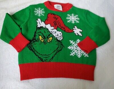 The Grinch Stole Christmas Sweater 18 Months Holiday Toddler Green Red Rare