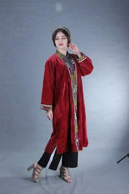 Velour Uzbek Vintage Beautiful Hand Embroidery Chapan Robe DressSALE WAS $259.00