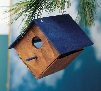 S&S Unfinished Wood Birdhouse, Unassembled WD18 (12 pack)