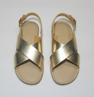 Toddler Girls Two Piece Footbed Sandals Gold NWT, Cat & Jack