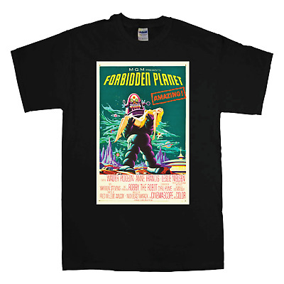Cool T-Shirts Movie Sci-Fi T-Shirt Vintage Retro Alien FORBIDDEN PLANET Poster