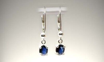 Sapphire Earrings Ancient Celtic Talisman 19thC Antique Roman Anti Evil Spirits