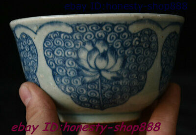 Collect Old China Blue White Porcelain Lotus Flower Bowl Cup Plate Teacup Statue
