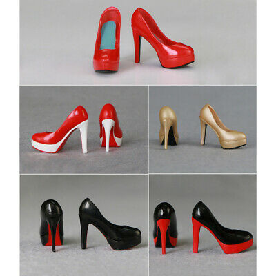 "1//12 Scale High Heels Shoes SILVER For 6/"" PHICEN TBLeague T01 Female Figure❶USA❶"
