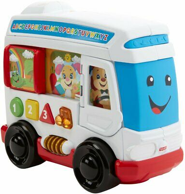 Fisher-Price Laugh + Learn Learn Around Town Bus Learning Toy Bus