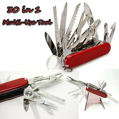 Red Pocket Army Knife Folding Multi-Use Tool Camping Survival 31-USE Swiss 1pack