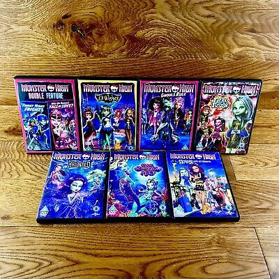Monster High Bundle X 7 Dvds Job Lot All Mint Discs Love Frights Ghouls Freaky