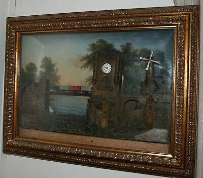 Amazing Antique French Automaton and musical picture clock XIX