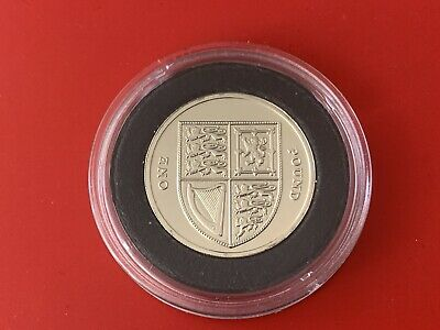 RARE 2015 RM Brilliant Uncirculated £1 One Pound Coin Royal Shield 5th Portrait