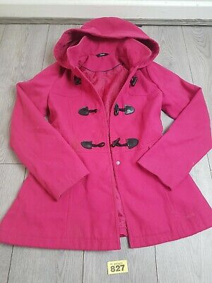 Girls Pink Coat Age 13-14 Years From George