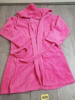 Girls Pink Dressing Gown Age 11-12 Years From George