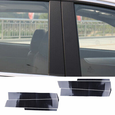 Fits Honda Civic 96-00 Carbon Fiber B-Pillar Window Trim Covers Post Parts