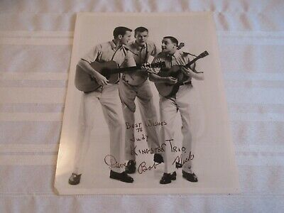 """Kingston Trio 8"""" X 10"""" Glossy Black And White Autographed Photograph"""