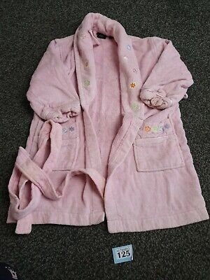 Girls Pink Dressing Gown Age 3-4 From Debenhams