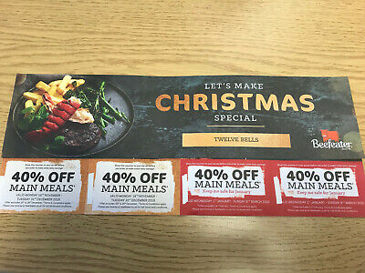 CHRISTMAS SPECIAL: 8 x Beefeater vouchers