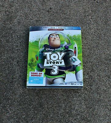 Disney Toy Story 3 Blu-Ray + Dvd + Digital Code With Slipcover Brand New
