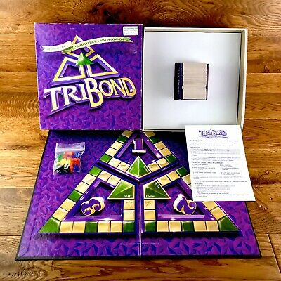 Tribond Fun Family Board Game What Do These 3 Have In Common? Rare 1998 Edition