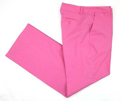 Vintage Lilly Pulitzer Preppy Pink Stretch Cotton Wide Leg Pants Size 10 MINT!