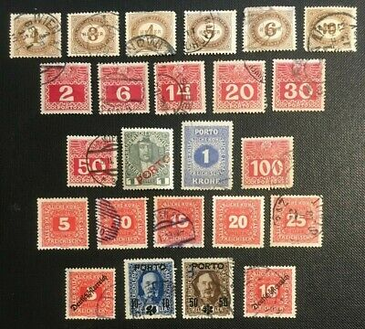 Austria Collection Of Old Stamps Postage Due, 3 Pics