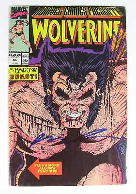 Marvel Comics Presents #46 VF Wolverine Cover Signed by Rob Liefeld Marve;