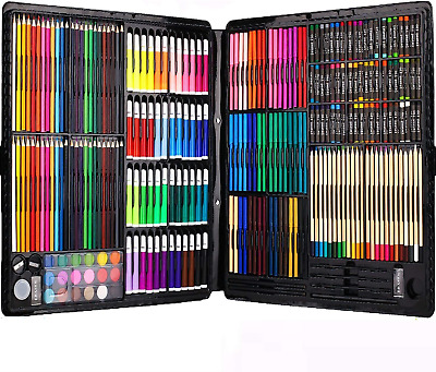 258 Piecs Inspiration Art Set for Drawing and Sketching Color Pen Crayons Case