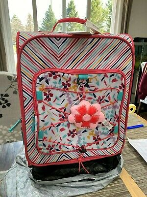 """Crckt 19.5"""" Kids Carry On Luggage Floral  Suitcase - New With Tags"""