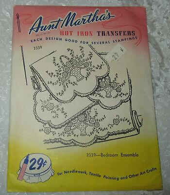 Bedroom Ensemble Aunt Martha/'s Hot Iron Embroidery Transfer #3339