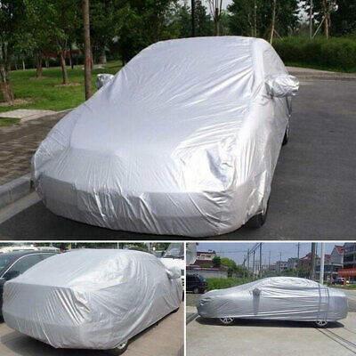 Waterproof Full Car Cover Medium 2 Layer Breathable UV Protect Indoor Outdoor