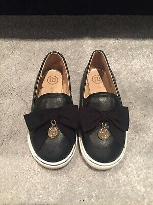 Girls Size 6 River Island Shoes Soft Leather Luxury Look, Goes Well With Any Dre