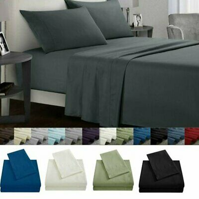 Ultra Soft Bed Sheet Set Single/Double/Queen/King Size Flat&Fitted&Pillowcases