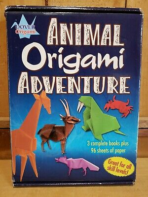 Dover Origami Animal Origami Adventure - 3 Books of Projects & Origami Paper