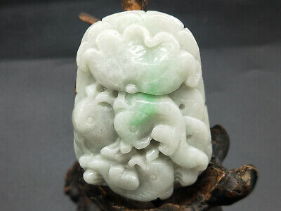 Chinese Hand-carved aristocratic wearing Jadeite jade pendant brave troops Ring