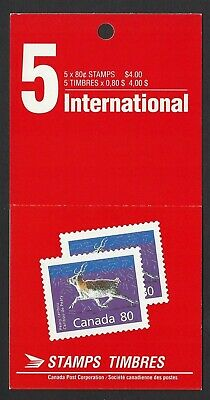 Canada BK129: 80c Peary Caribou booklet of 5+label, Scott #1180b pane, VF-NH