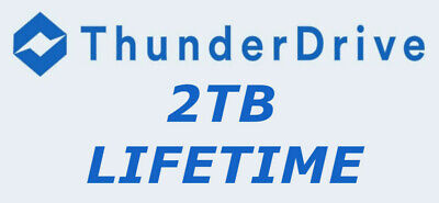 2TB ThunderDrive Cloud Storage [Lifetime] + 5TB One Drive Free