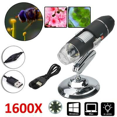 1600X USB Digital LED Magnifier Microscopes Endoscope Camera for Tablet/Laptop